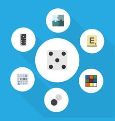 Flat icon games set of bones game backgammon vector