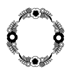 flower decorative isolated icon vector image