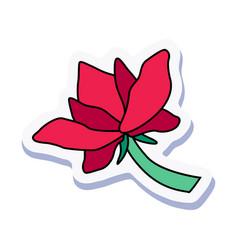 Flower doodle sticker vector