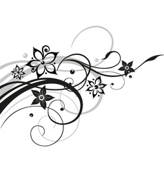 Flower flowers vine black gray vector