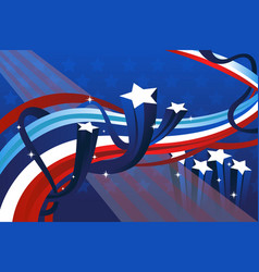 fourth of july banner vector image