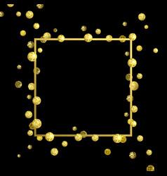 frame golden confetti vector image