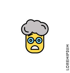 Frowning with open mouth emoji yellow boy vector