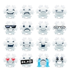 Funny Snowflake Emojis vector image