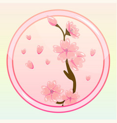 Game icon with sakura flower vector