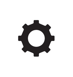 gear icon in flat style for app ui websites black vector image