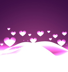 Heart background with wave vector