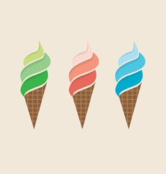 Ice Cream Colorful Set vector