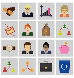 Icons set revenue concept sign of business vector