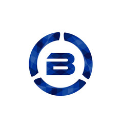 initial b blue color triangle rounds logo logo vector image