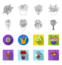 Isolated object spring and wreath logo vector