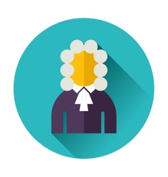 judge icon vector image