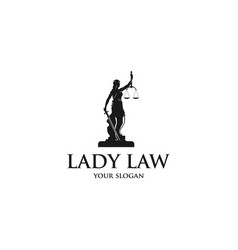 lady law vector image