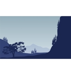 Landscape tree in mountain vector image