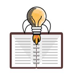 Light bulb and notebook design vector
