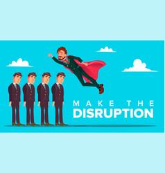 make disruption creative thinking banner vector image