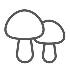 mushroom line icon food and vegetarian vector image