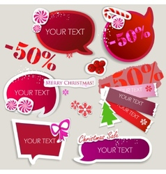 Paper bubbles for speech christmas sale vector
