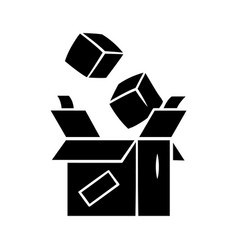 Parcel packing glyph icon order packaging vector