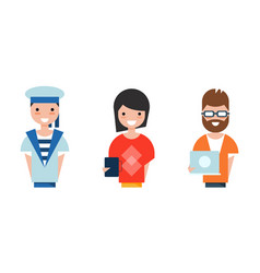 People various professions set programmer vector