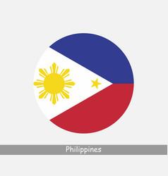Philippines round circle flag vector