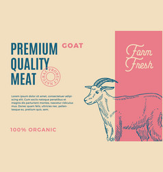 Premium quality goat abstract meat vector