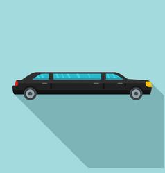 President limousine icon flat style vector