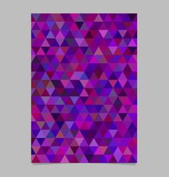 Purple abstract brochure template design vector