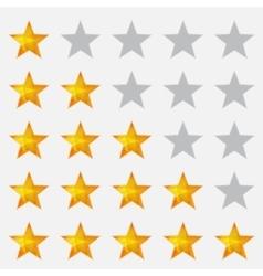 Rating stars gray vector