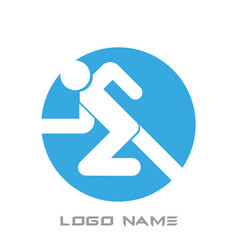 running man icon logo name vector image