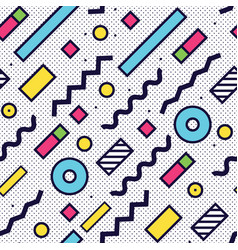 Seamless pattern in 90 80 style vector