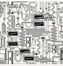 seamless pattern on theme oil industry vector image