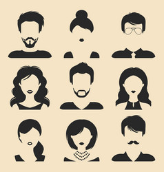 set of different male and female icons in vector image