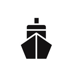 Ship front icon vector