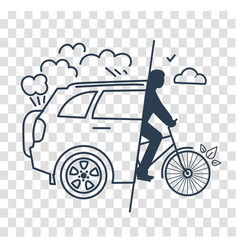 Silhouette world car free day vector