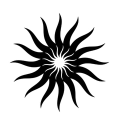 Solar energy black simple icon vector