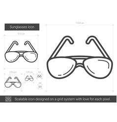 Sunglasses line icon vector