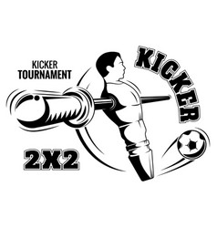 table football emblem kicker is a poster vector image