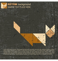Tangram cat vector image
