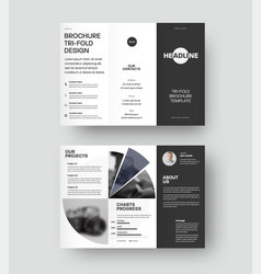 Trifold template with geometric design isolated vector
