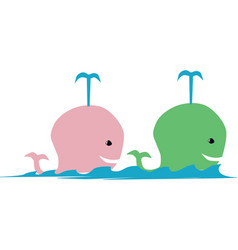 Two whales vector