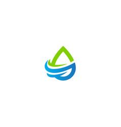 Waterdrop eco bio logo vector