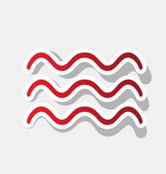 waves sign new year reddish vector image
