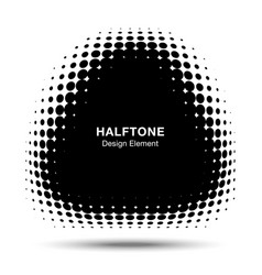 convex abstract halftone distorted triangle frame vector image