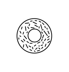 donut icon vector image vector image