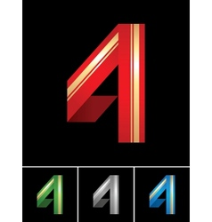 Numeral of paper tape - 4 vector image