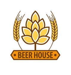 beer house drink label flat design art pattern on vector image vector image