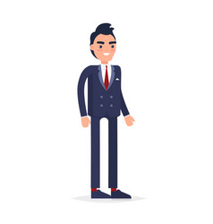 businessman character isolated vector image