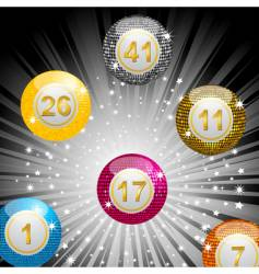 disco lottery ball background vector image