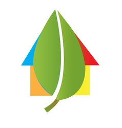House and leaf logo vector image vector image